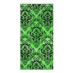 Damask1 Black Marble & Green Watercolor (r) Shower Curtain 36  X 72  (stall)