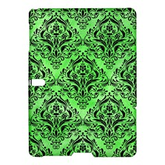 Damask1 Black Marble & Green Watercolor (r) Samsung Galaxy Tab S (10 5 ) Hardshell Case