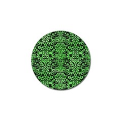 Damask2 Black Marble & Green Watercolor Golf Ball Marker (4 Pack)