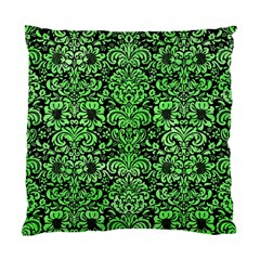 Damask2 Black Marble & Green Watercolor Standard Cushion Case (two Sides)