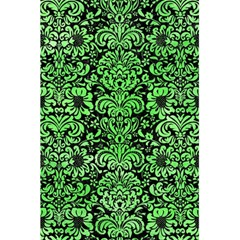 Damask2 Black Marble & Green Watercolor 5 5  X 8 5  Notebooks