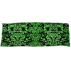 Damask2 Black Marble & Green Watercolor Body Pillow Case (dakimakura)