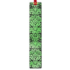 Damask2 Black Marble & Green Watercolor Large Book Marks
