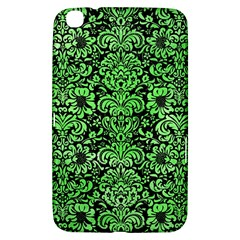 Damask2 Black Marble & Green Watercolor Samsung Galaxy Tab 3 (8 ) T3100 Hardshell Case