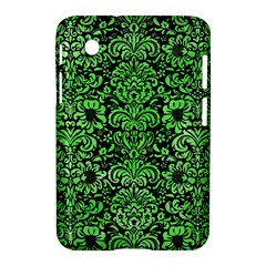 Damask2 Black Marble & Green Watercolor Samsung Galaxy Tab 2 (7 ) P3100 Hardshell Case