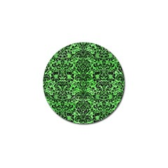 Damask2 Black Marble & Green Watercolor (r) Golf Ball Marker (4 Pack)
