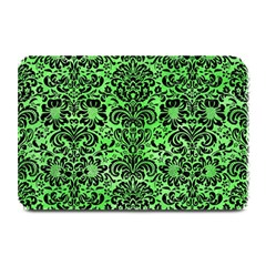 Damask2 Black Marble & Green Watercolor (r) Plate Mats