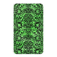 Damask2 Black Marble & Green Watercolor (r) Memory Card Reader