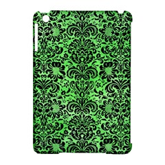 Damask2 Black Marble & Green Watercolor (r) Apple Ipad Mini Hardshell Case (compatible With Smart Cover)