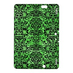 Damask2 Black Marble & Green Watercolor (r) Kindle Fire Hdx 8 9  Hardshell Case