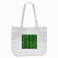 Damask2 Black Marble & Green Watercolor (r) Tote Bag (white)