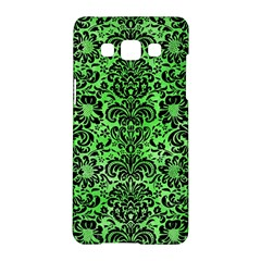 Damask2 Black Marble & Green Watercolor (r) Samsung Galaxy A5 Hardshell Case