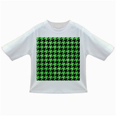 Houndstooth1 Black Marble & Green Watercolor Infant/toddler T Shirts