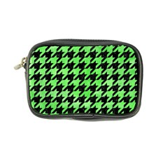 Houndstooth1 Black Marble & Green Watercolor Coin Purse