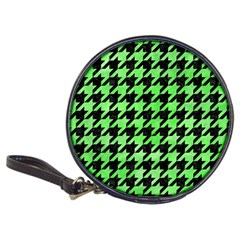 Houndstooth1 Black Marble & Green Watercolor Classic 20 Cd Wallets