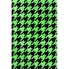 Houndstooth1 Black Marble & Green Watercolor 5 5  X 8 5  Notebooks