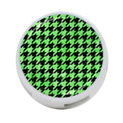 Houndstooth1 Black Marble & Green Watercolor 4 Port Usb Hub (one Side)