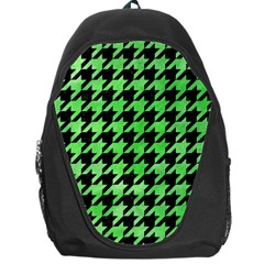 Houndstooth1 Black Marble & Green Watercolor Backpack Bag