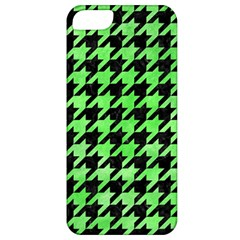 Houndstooth1 Black Marble & Green Watercolor Apple Iphone 5 Classic Hardshell Case