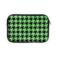 Houndstooth1 Black Marble & Green Watercolor Apple Ipad Mini Zipper Cases