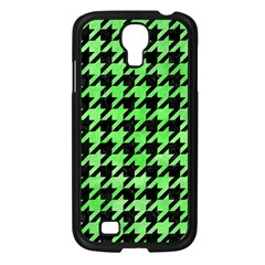 Houndstooth1 Black Marble & Green Watercolor Samsung Galaxy S4 I9500/ I9505 Case (black)