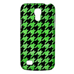 Houndstooth1 Black Marble & Green Watercolor Galaxy S4 Mini