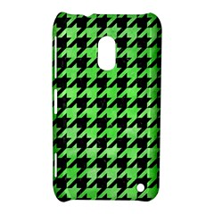 Houndstooth1 Black Marble & Green Watercolor Nokia Lumia 620