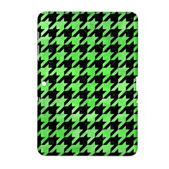 Houndstooth1 Black Marble & Green Watercolor Samsung Galaxy Tab 2 (10 1 ) P5100 Hardshell Case