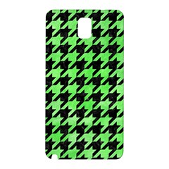 Houndstooth1 Black Marble & Green Watercolor Samsung Galaxy Note 3 N9005 Hardshell Back Case