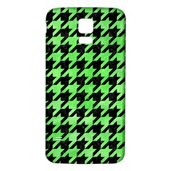 Houndstooth1 Black Marble & Green Watercolor Samsung Galaxy S5 Back Case (white)