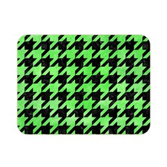 Houndstooth1 Black Marble & Green Watercolor Double Sided Flano Blanket (mini)
