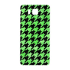 Houndstooth1 Black Marble & Green Watercolor Samsung Galaxy Alpha Hardshell Back Case