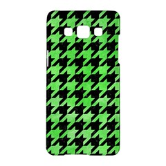 Houndstooth1 Black Marble & Green Watercolor Samsung Galaxy A5 Hardshell Case