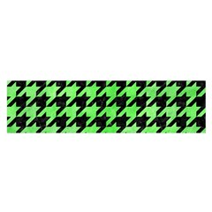 Houndstooth1 Black Marble & Green Watercolor Satin Scarf (oblong)