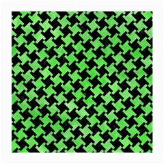 Houndstooth2 Black Marble & Green Watercolor Medium Glasses Cloth (2 Side)