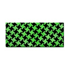 Houndstooth2 Black Marble & Green Watercolor Cosmetic Storage Cases