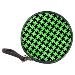 Houndstooth2 Black Marble & Green Watercolor Classic 20 Cd Wallets