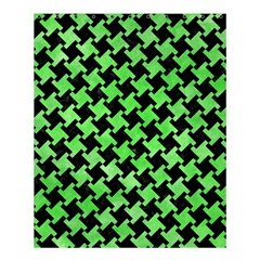 Houndstooth2 Black Marble & Green Watercolor Shower Curtain 60  X 72  (medium)