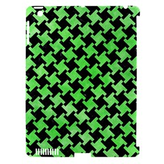 Houndstooth2 Black Marble & Green Watercolor Apple Ipad 3/4 Hardshell Case (compatible With Smart Cover)
