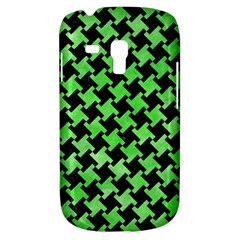 Houndstooth2 Black Marble & Green Watercolor Galaxy S3 Mini