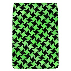 Houndstooth2 Black Marble & Green Watercolor Flap Covers (l)