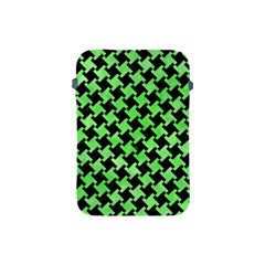 Houndstooth2 Black Marble & Green Watercolor Apple Ipad Mini Protective Soft Cases