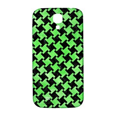 Houndstooth2 Black Marble & Green Watercolor Samsung Galaxy S4 I9500/i9505  Hardshell Back Case