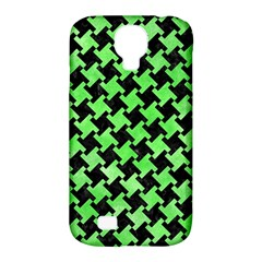Houndstooth2 Black Marble & Green Watercolor Samsung Galaxy S4 Classic Hardshell Case (pc+silicone)
