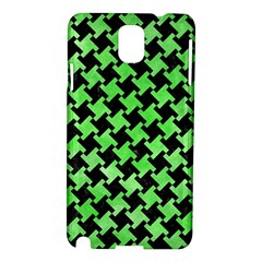 Houndstooth2 Black Marble & Green Watercolor Samsung Galaxy Note 3 N9005 Hardshell Case