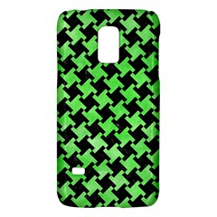 Houndstooth2 Black Marble & Green Watercolor Galaxy S5 Mini