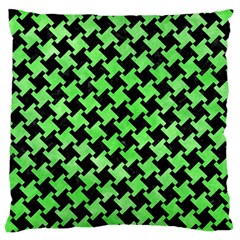 Houndstooth2 Black Marble & Green Watercolor Standard Flano Cushion Case (one Side)