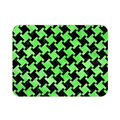 Houndstooth2 Black Marble & Green Watercolor Double Sided Flano Blanket (mini)