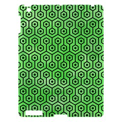 Hexagon1 Black Marble & Green Watercolor (r) Apple Ipad 3/4 Hardshell Case