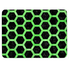 Hexagon2 Black Marble & Green Watercolor Samsung Galaxy Tab 7  P1000 Flip Case